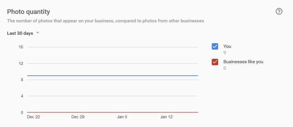 Google My Business Insights - Photo Views - markscheets.com