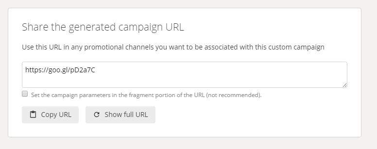 Google URL Builder - shortened URL - markscheets.com